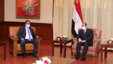 Photo of الرئيس المصري عبد الفتاح السيسي يلتقي رئيس الوزراء السوداني عبد الله حمدوك